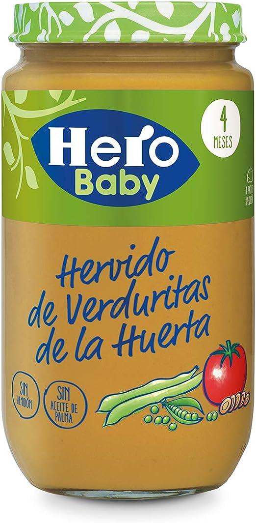 Hero Baby Natur Hervido de Verduritas de la Huerta Tarritos de puré para Bebés a partir de 4 meses Pack de 12 x 235 g: Amazon.es: Alimentación y bebidas