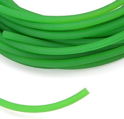cinghie tonde in uretano ad alte prestazioni Superficie ruvida verde Cinghia rotonda in poliuretano per la migliore trasmissione 8mm*5m Cinghia di trasmissione