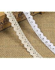Yulakes 10 metros de encaje de la vendimia cinta de encaje blanco trenzado de encaje trenzas de costura tarjeta de Diario Scrapbooking decoración de la caja de regalo - Y01007 (blanco)