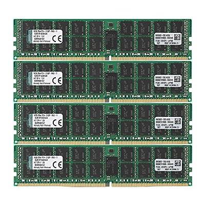 Kingston Technology 64GB RAM Kit (4x16GB) 2133MHz DDR4 ECC Reg CL15 DIMM DR x 4 with TS Server Memory (KVR21R15D4K4/64) by Kingston Technology