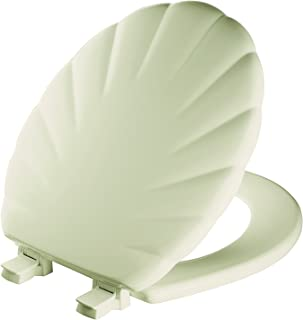 product image for Mayfair 22ECA 006 Sculptured Shell Toilet Seat will Never Loosen and Easily Remove, Round, Bone