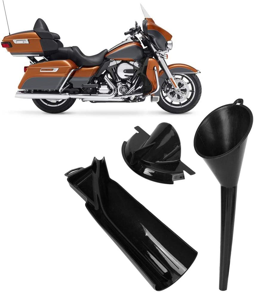 Akozon Oil Funnel Motorcycle Drip Free Oil Filter Funnel Kit Set Practical Accessory Black