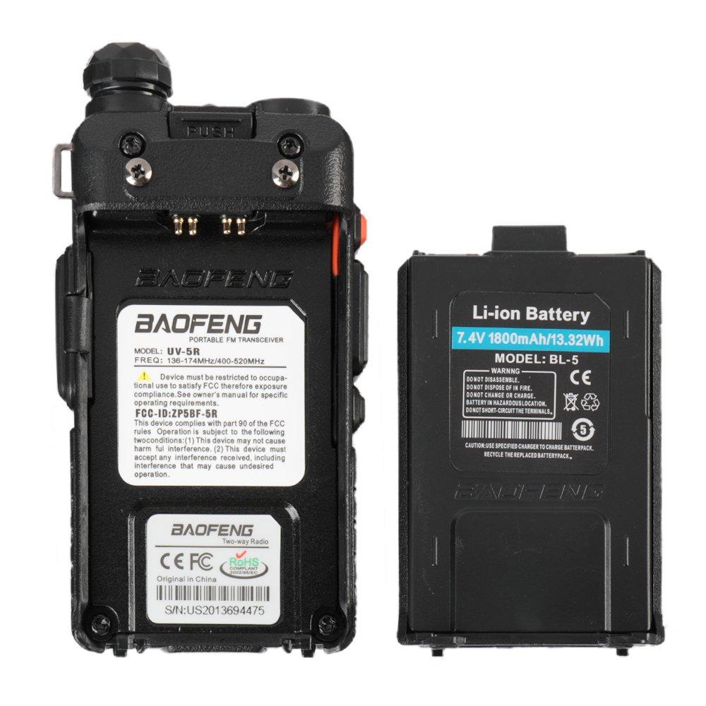 BaoFeng UV-5R Dual Band Two Way Radio (Black) by BaoFeng
