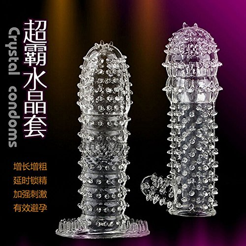 Penis Sleeve Condoms Reusable Sex Toys Condoms cock Extender dildo Full Cover Penis Erection Delay Adult Products men