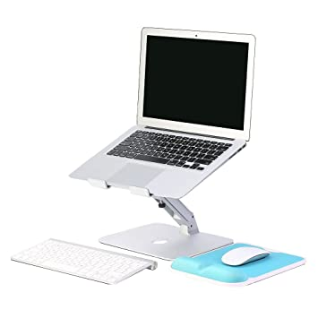 ZSTX Altura y ángulo Refrigeración de Aluminio Ajustable Soporte para computadora portátil de Escritorio DEST Apoyabrazos Ordenador para computadora PC ...
