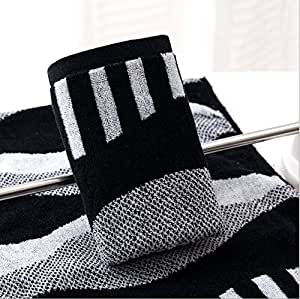 Tender Towels Black And White Stripes Hand Towels For Lovers 100 Cotton Face Towels