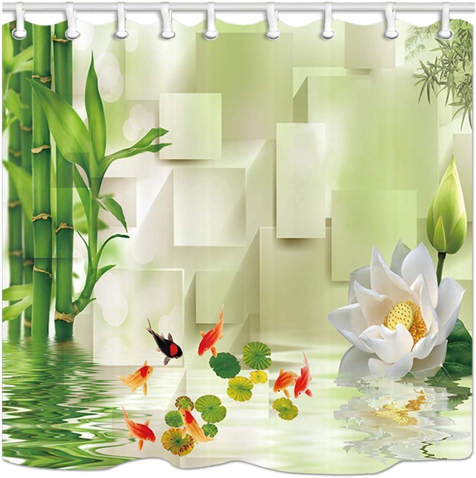 Amazon Com Dynh Spa Bath Curtains For Bathroom Asian Zen Massage