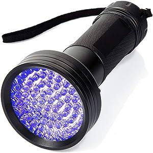 UV Flashlight 68 LED Blacklight Flashlights Bright Best Powerful Black Light Flashlight] Ultraviolet Pet Urine Detector for Dog/Cat Urine Dry Stains Bed Bug Dangerous Leaks