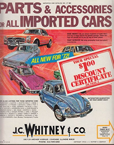 J C Whitney Imported Cars Parts & Accessories Catalog 1972 (Imported Accessories)