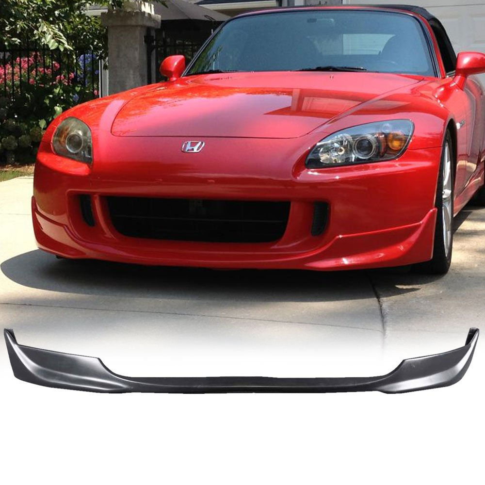 Front Bumper Lip Fits 2004-2009 Honda S2000   OE Factory Style Polyurethane (PU) Unpainted Black Guard Protection Finisher Under Chin Spoiler by IKON MOTORSPORTS   2005 2006 2007 2008