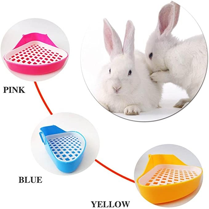 Caja de Esquina extra/íble para Conejo Bandeja de Orinal para peque/ños Animales h/ámster Chinchilla Gato Cuenco para Inodoro para Mascotas AOLVO