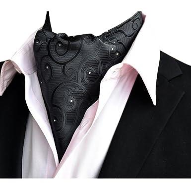 YCHENG Mens Premium Silk Paisley Tie Cravat Ascot Scarf Wedding NeckTies 4bb50ce2f2b