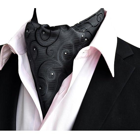 YCHENG Corbatas Bufandas de Hombre Jacquard Ascot Paisley Pañuelo Regalo de San Valentín