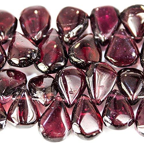 7-10mm Pyrope Garnet plain pear Beads 8 inch 66 pieces