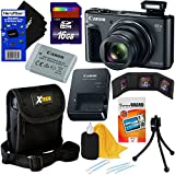 Canon PowerShot SX730 HS 20.3 MP Digital Camera with 40x Optical Zoom, Wi-Fi, NFC, Bluetooth & HD 1080p Video (Black) International Version + 9pc 16GB Accessory Kit w/HeroFiber Gentle Cleaning Cloth