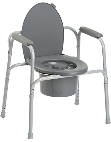 Invacare Styxo - Silla de wc 3 en 1 para personas mayores, Regulable en altura
