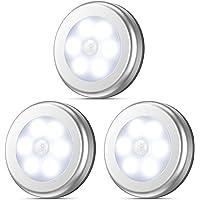 AMIR Motion Sensor Light, Cordless Battery-Powered LED Night Light, Stick-Anywhere Closet Lights Stair Lights, Puck Lights for Hallway, Bathroom, Bedroom, Kitchen (White-2)