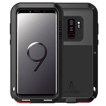 love Mei Samsung Galaxy S9 Plus Funda, Metal [Aluminio] y Silicona Antigolpes [Ultra Resistente] Antichoque Deportes Extremos Antipolvo compatible Carga ...