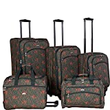 American Flyer Budapest 5-pc Spinners Luggage Set (Green)