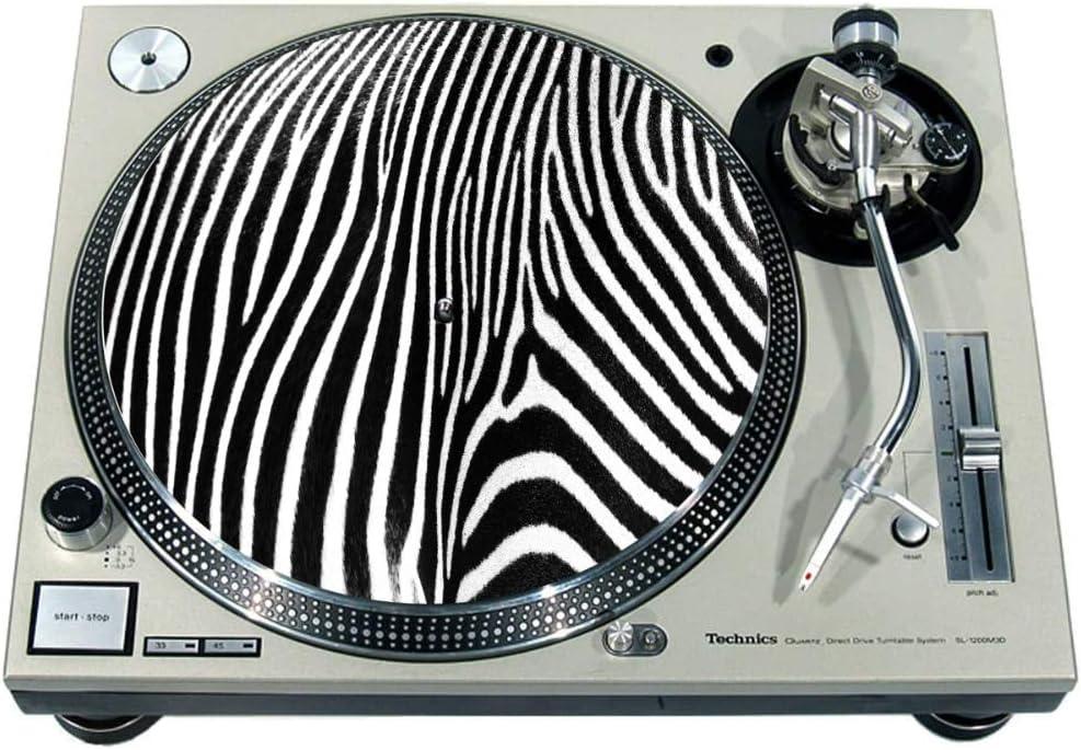 Zebra 2 Slipmat Rutschmatte//Kratzmatte aus Filz f/ür jeden 30,5 cm LP DJ-Plattenspieler Custom Graphical