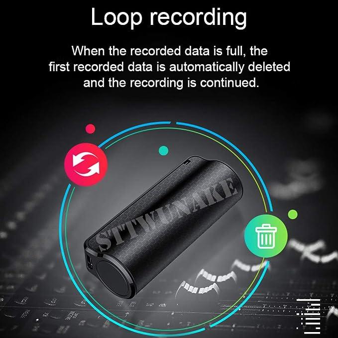 enregistreur Audio HD 16 Go Class Commande vocale Dictaphone,Argent LLDKA Recorder Mini Magn/étophone pour des conf/érences//r/éunions//Interviews