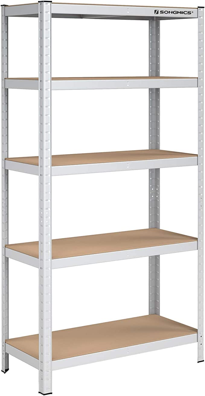 Songmics - Estantería para Cargas Pesadas, 180 x 90 x 40 cm, soporta hasta 875 kg, 5 estantes Ajustables, estantería de Metal, estantería de Taller, ...