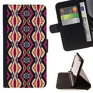 For LG Nexus 5 D820 D821 Case , Étnico Cultura Rosa Vertical- la tarjeta de Crédito Slots PU Funda de cuero Monedero caso cubierta de piel