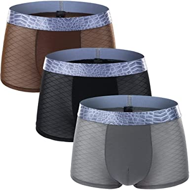 Boxer para Hombre Boxer Shorts Lisos Ropa Interior Hombre Único para Transpirable Shorts Boxer Bragas Pantalones Cortos Tronco Briefs 3 Pack: Amazon.es: Ropa y accesorios