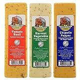 Bundle - Set of 6 Farmers Market Gourmet Wisconsin Cheese Bricks Gift Basket Fondue Food Blocks