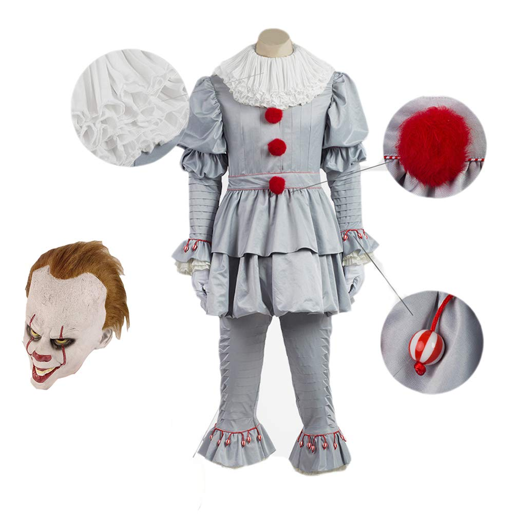 Amazon.com Classical City Halloween Clown Cosplay Costumes