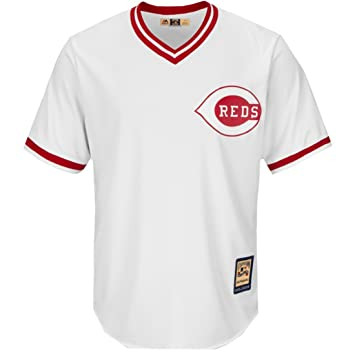 online store 2c028 df1b9 Majestic Johnny Bench Cincinnati Reds MLB Cooperstown Cool Base White Jersey