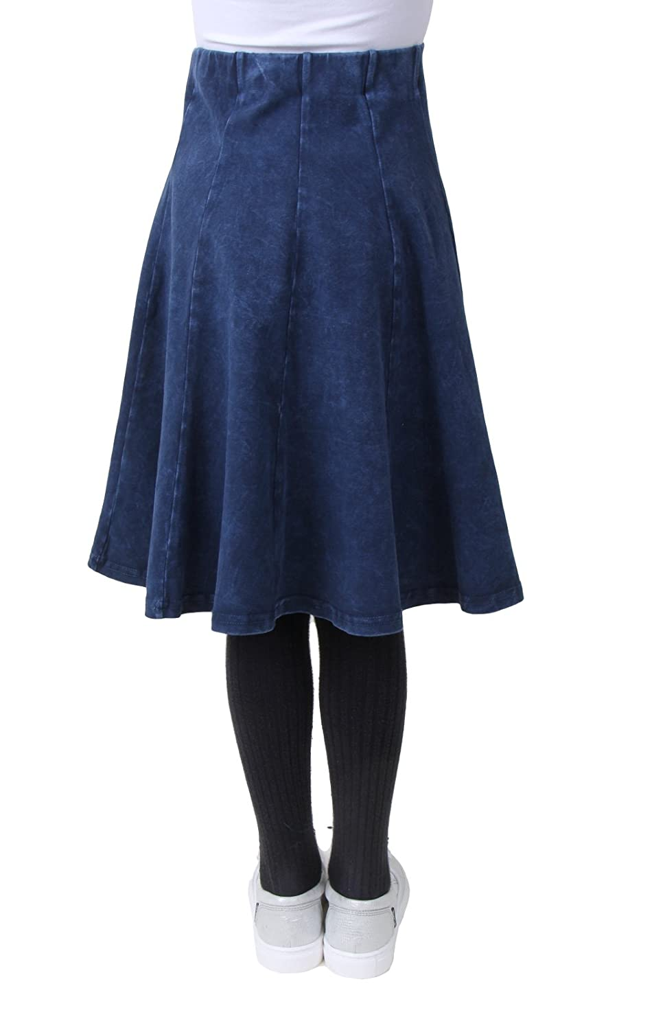 Kiki Riki Girls Stone Denim Wash Panel Skirt