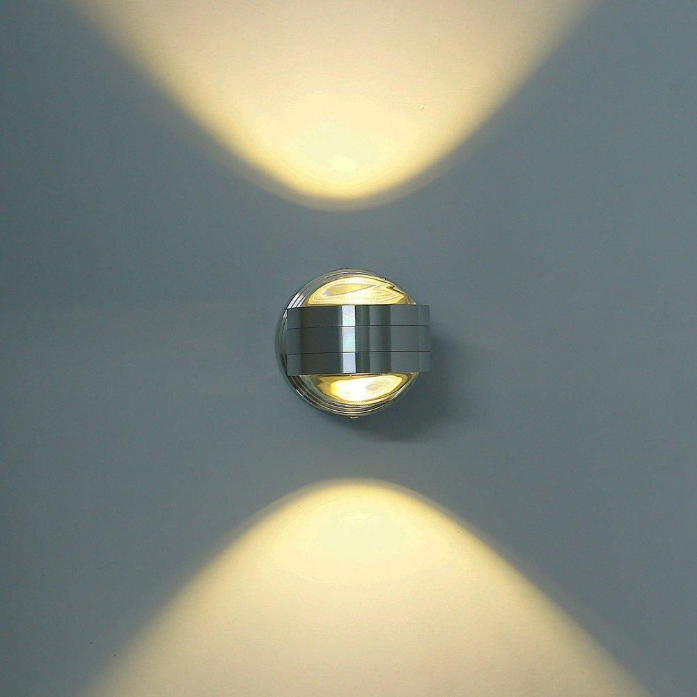 Lightess Moderne 6W LED Wandleuchte Innen Aluminium kreative moderne minimalistische Kulisse LED Wandlampe Nachtwandlampe Schlafzimmerlampe Wohnzimmer Flur Flurlampe, warmes Weiß [Energieklasse A++] warmes Weiß LI-4292221