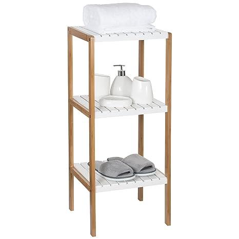 Amazon.com: Ollieroo Bamboo Utility Shelves Bathroom Rack Plant ...