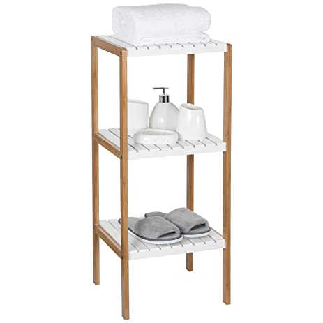 Ollieroo Bamboo Utility Shelves Bathroom Rack Plant Display Stand  Multifunctional Shelving Unit (3 Tier)