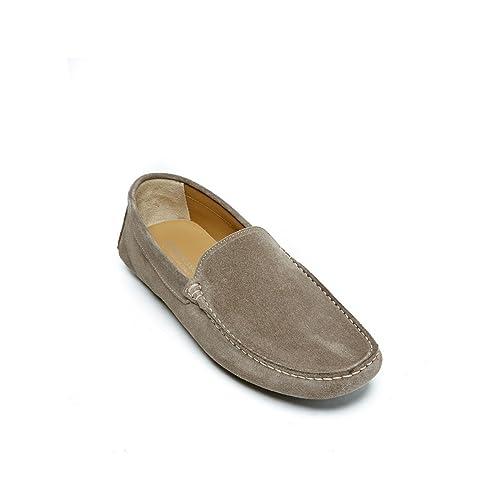Frank Daniel mocassin - Mocasines de Piel Para Hombre Beige Beige Beige Size: 40 EU: Amazon.es: Zapatos y complementos