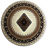 South West Round Area Rug Design D 143 Ivory (6 Feet 8 Inch X 6 Feet 8 Inch) Round