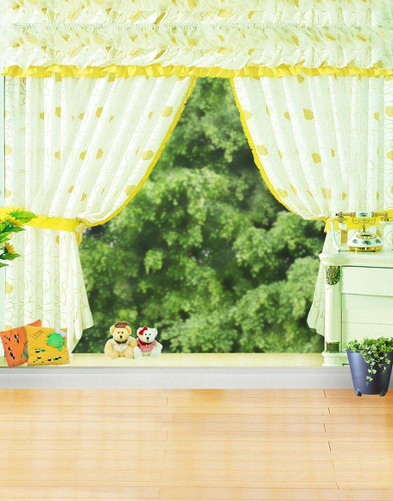 5 x 7ft木製床Cute Bearグリーンツリー写真背景computer-printedビニールBackdrops   B01J3RTMWW