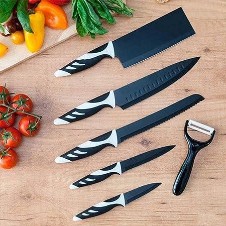 Cecotec Set de 6 Cuchillos Profesionales suizos, Color Blanco: Amazon.es: Hogar