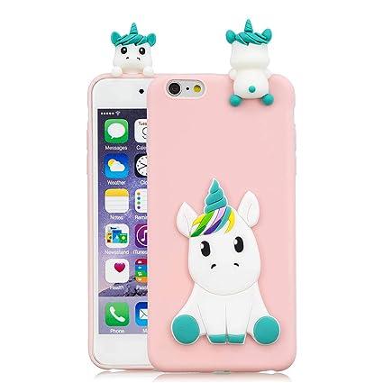 bf421fd667c CoqueCase Funda iPhone 6s Plus Silicona 3D Suave Flexible Ultrafina Goma  Case Ultra Delgado Caso Color