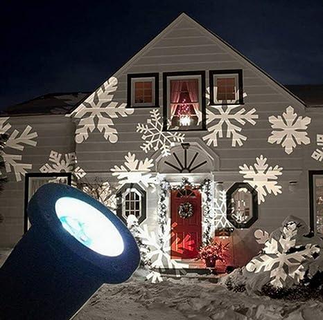 Proiettore Luci Di Natale Amazon.E Bestar Luci Multicolore Proiettore Impermeabile Con Decorative Luci Decorative Luci Natalizie Luci Di Halloween Natale Fiocco Di Neve 4 1