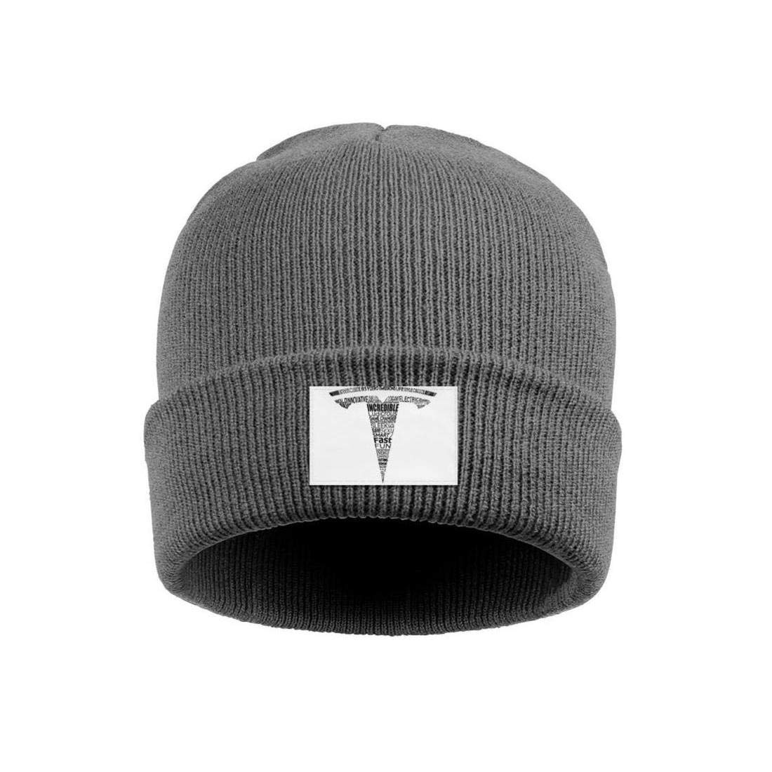 Winter Knit Cap coolgood Men Women Beanie Hats Tesla-Logo