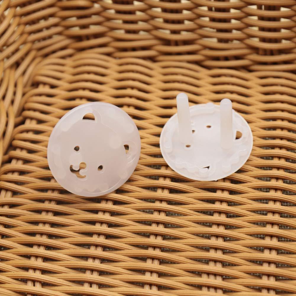 Newin Star Tapas de enchufes Babyproofing Seguro enchufe el/éctrico Protectores robusta a prueba de ni/ños para enchufes 10pcs transparente est/ándar de la UE para ni/ños peque/ños y beb/és