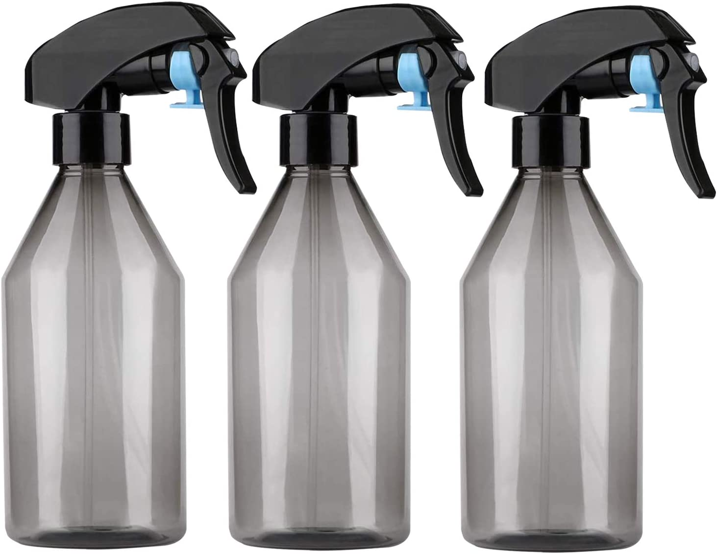 Fine mist spray bottle, plant mister spray bottle or empty small water spray bottle suits cleaning solutions. water, indoor gardening, spray water bottle with mister sprayer nozzle 10oz/300ml (3 sets)