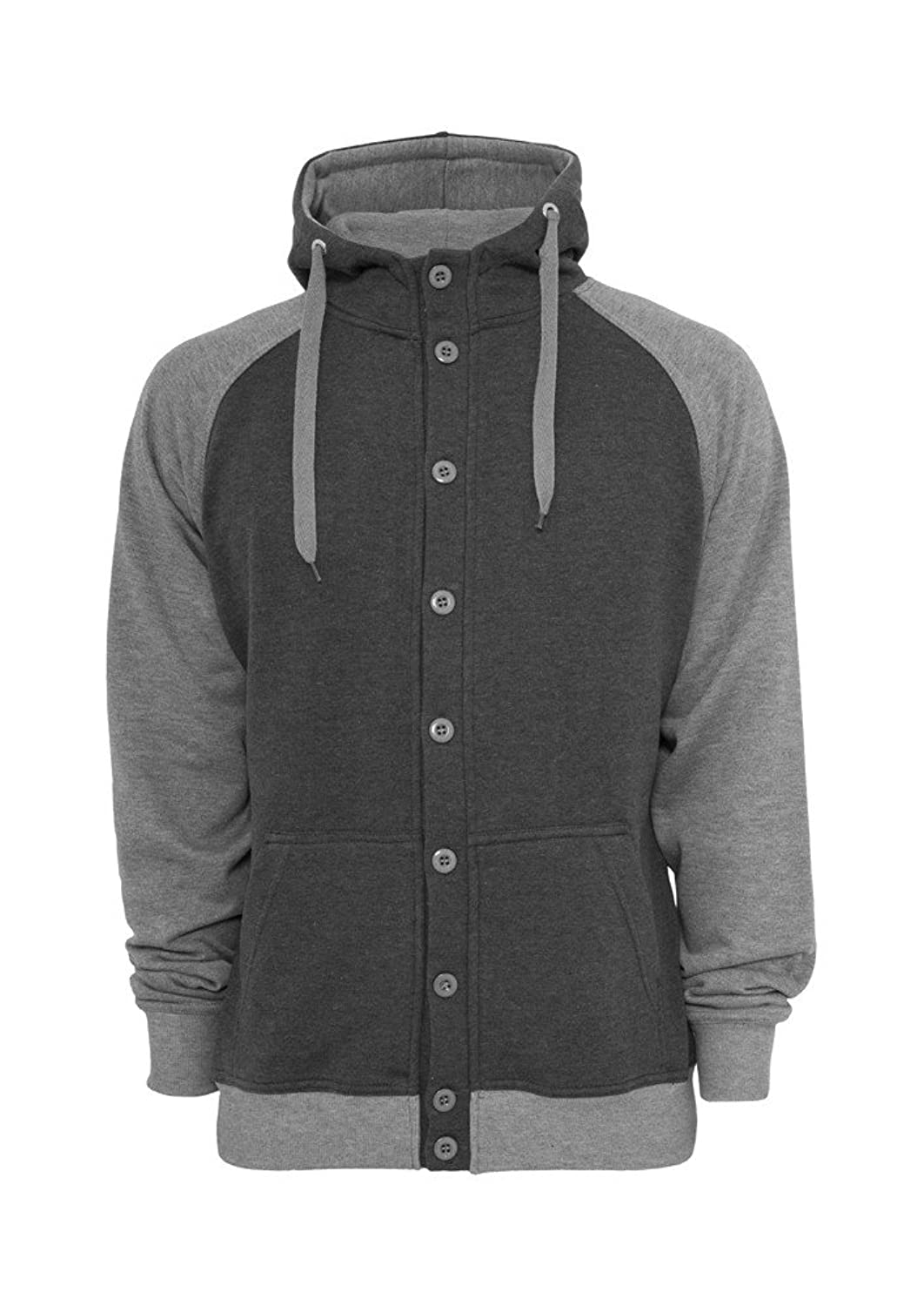 Light Fleece Button Hoody