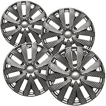 amazon oxgord hubcaps for 15 inch standard steel wheels pack 07 Civic Mugen Si Wing oxgord for 15 inch standard steel wheels pack of 4 wheel covers snap on gun metal gray