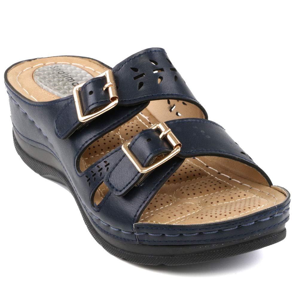 Shalimar Shoes Femme Shoes , Mules Femme Bleu Marine Marine 0fc57eb - latesttechnology.space