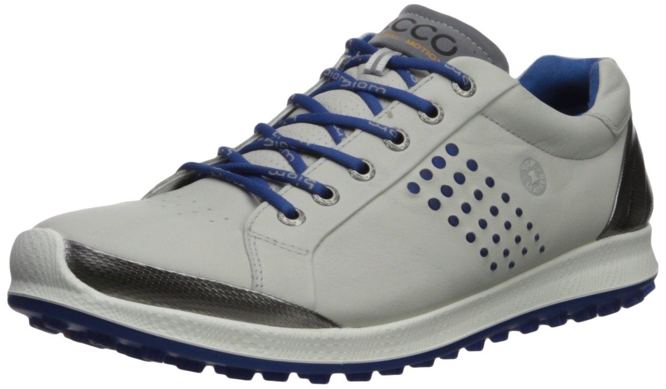 ECCO Men's Biom Hybrid 2 Hydromax Golf Shoe Concrete/Royal 39 Medium EU (5-5.5 US)