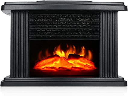 Ztghs Electric Fireplace Stove Heater 1000w Portable Freestanding Fireplace With Log Wood Burning Flame Effect Warm Small Warm Air Blower Amazon Co Uk Kitchen Home