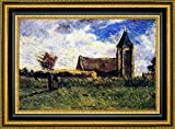 """This 15"""" x 23"""" framed premium canvas print of Country Church by Paul Gauguin is meticulously created on artist grade canvas utilizing ultra-precision print technology and fade-resistant archival inks.Every detail of the artwork is reproduced to muse..."""